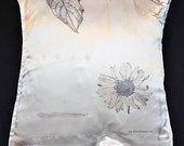 """4 70s pillowcases with flower motif, 40 x 40 cm, c. 15.8x15.8"""", easy-care pillowcases,"""