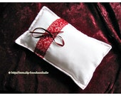 Ring carrier pillow, whit...