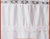 White vintage lace countr...