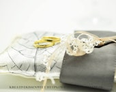 """Exclusive ring pillow for marriage and wedding ceremony, ring carrier cushion for wedding, unique, 12 x 21 cm, 5"""" x8"""","""