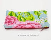 """Cosmetic Bags 20 x 10 cm, 8x4, """"pen Stitches, zip Pocket, Polyester"""