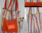 """Designer bag, foldable fabric bag, tote bag, b&h 38 cm - 15"""", unique wool bag, tote bag"""