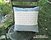 Blue Patchwork pillow cas...
