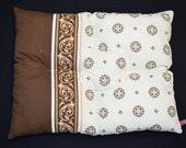 Dog bed with original retro fabric, cotton dog pillow