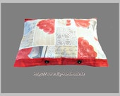 Pillow, red and grey, pil...