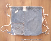 Blue jeans backpack made ...