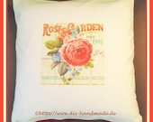 """Cushion cover with zipper, cushion french print, approx. 50 x 50 cm, 20x20"""", unique, gift,"""