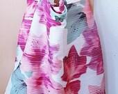 Spring shopping bag, 45 x 42 cm, fabric bag, carrier bag, designer bag,