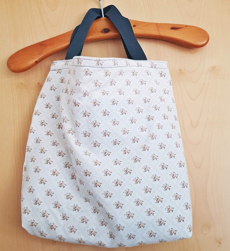 w 40 x 40 cm shopper tote bag unique denim bag tote bag Reversible bag