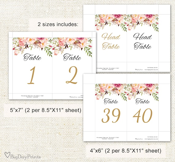 graphic relating to Printable Wedding Table Numbers named Wedding ceremony Desk Quantities, Floral Desk Quantities, Printable