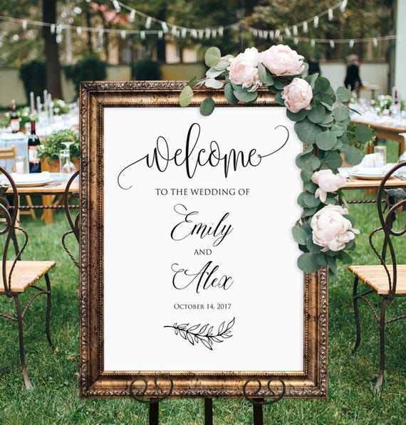 Wedding Sign Poster Print Vintage Roses Loved Ones In Heaven