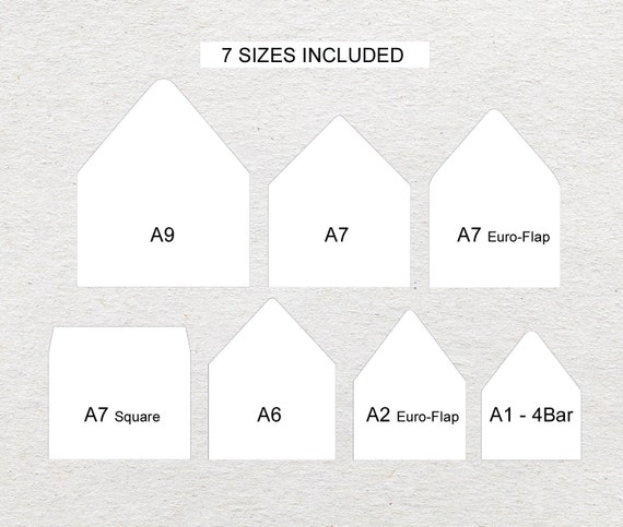 Envelope Liners Liner Template White Background