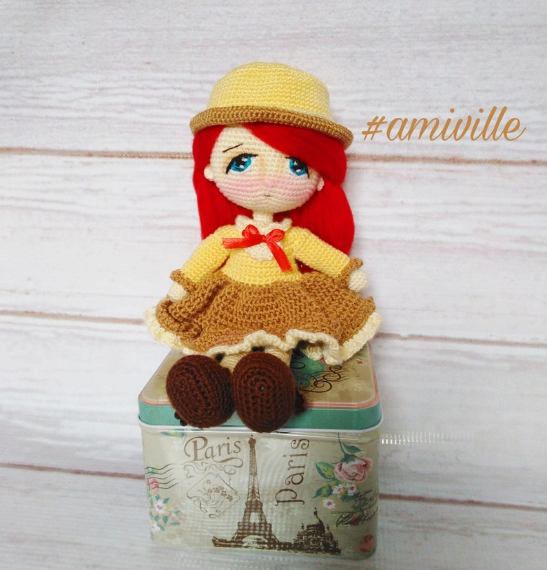 Penelope doll dress and hat pattern