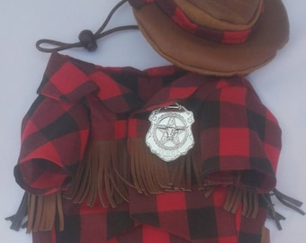 Cowboy dog costume, cowboy costume for dogs, sheriff dog costume, sheriff costume for dogs, outlaw dog costume, outlaw costume for dogs