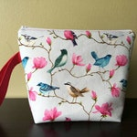 Square-ish Small Shawl Project Bag- Lovely Birds