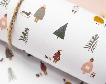 Dog wrapping paper, Scandi Gift Wrap, Pug Christmas wrapping paper, Hygge Nordic Gift Wrap, Eco Friendly Gift Wrap, Pug Gift Wrap