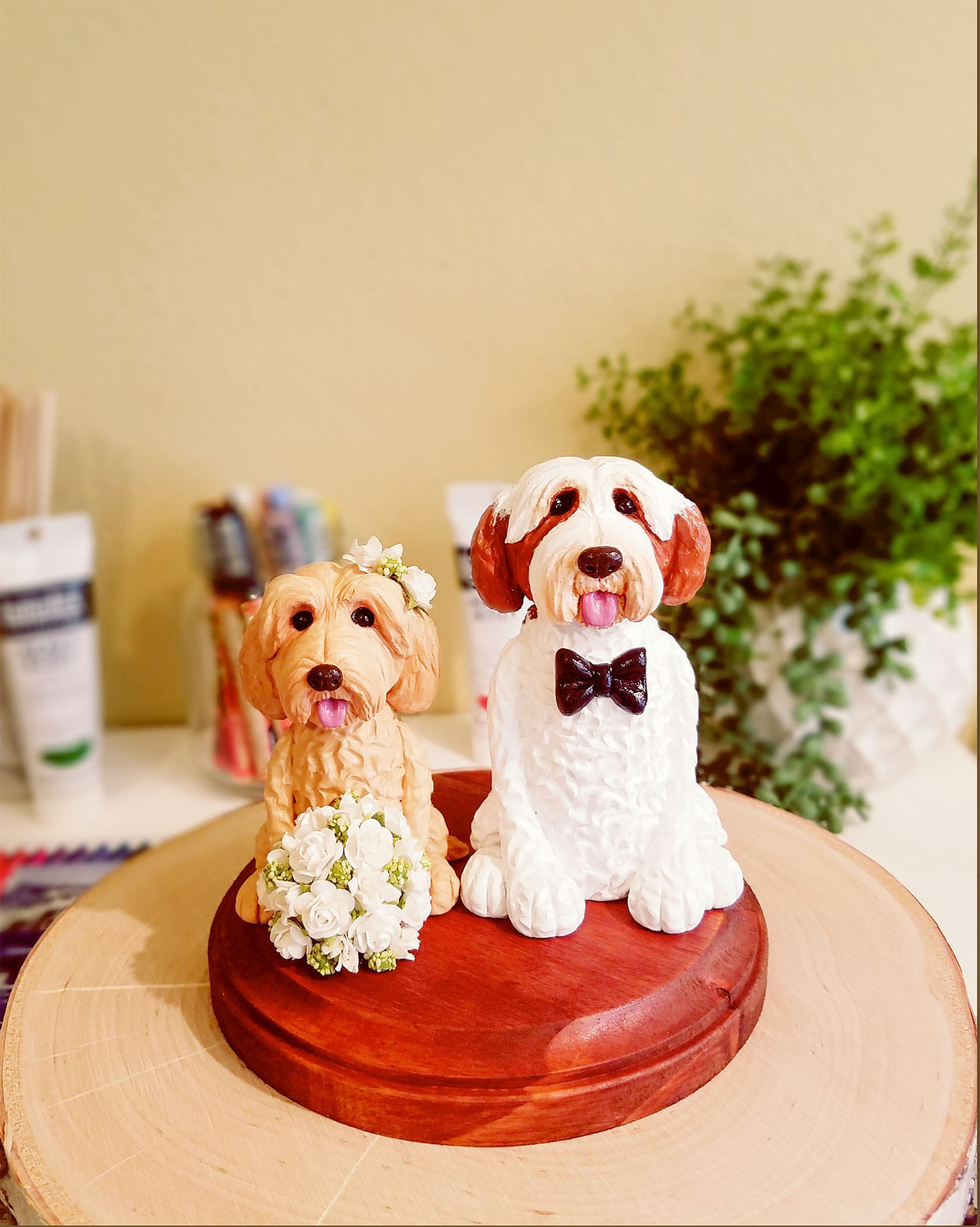 Clay Dog Cake Topper Goldendoodle Cake Topper Parti | Etsy