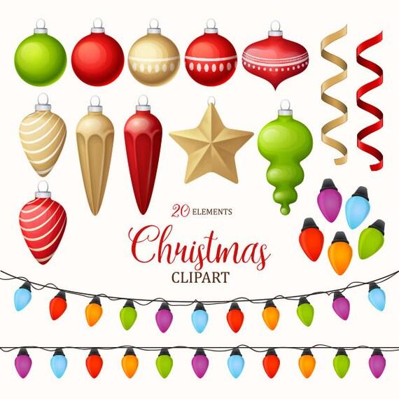 Christmas Decorating Clip Art.Christmas Clipart Christmas Decoration Clipart Christmas Lights Christmas Ornament Clip Art Collection Vector Art