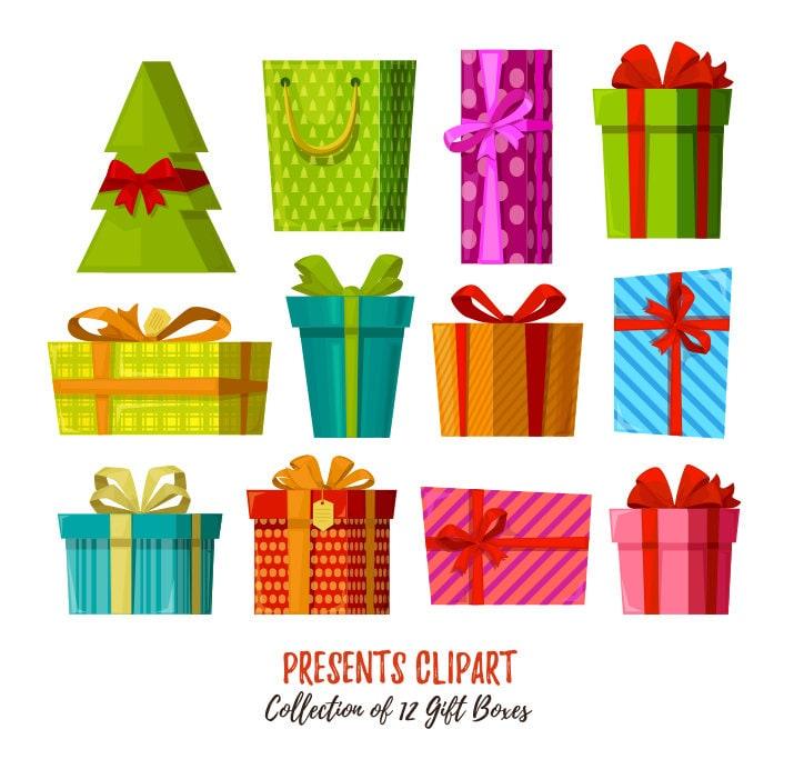 Präsentieren Sie Clipart. Geschenk-Boxen ClipArt-Sammlung. | Etsy
