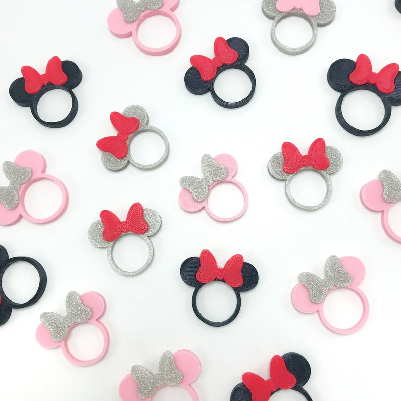 Disney Disney Ring Rings Minnie Mouse Ring Disney Jewelry 3D Printed 3D Printed Rings Mickey Mouse Ring Minnie Mouse Ring