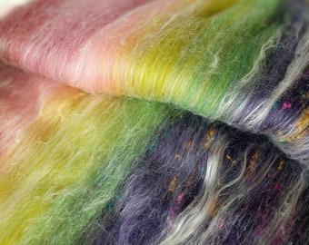 Carded Art Batt,  Merino Wool,  Spinning Art Batt,  Art Yarn,  Spinning Wool,  Spinning Fibers,  Gradient Colors,  Felting Fiber, Art Batt