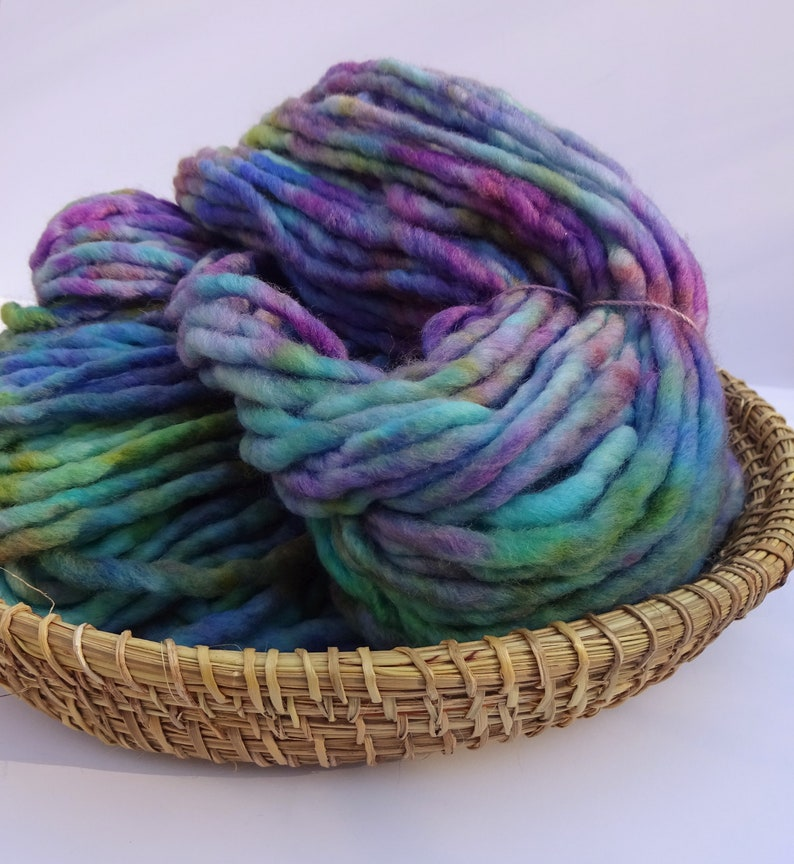 Merino Nylon Unicorn Cloud Hand Dyed Chunky Yarn