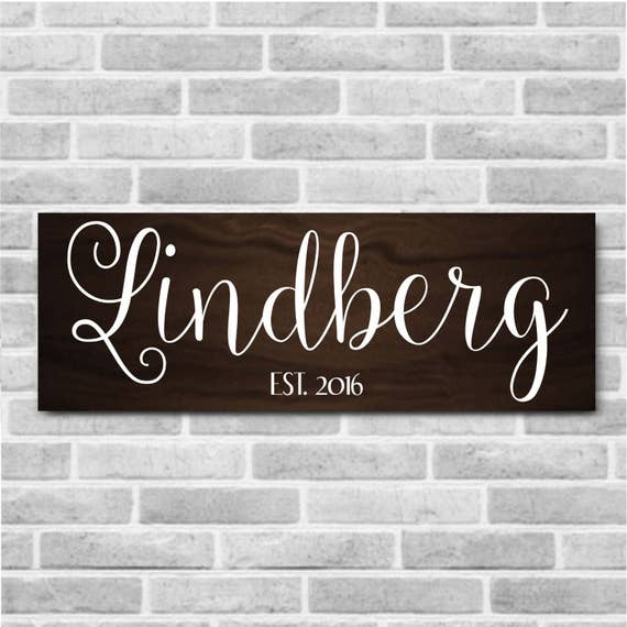 Family Name Established Sign Personalized Home Decor   Etsy