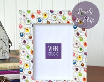 5 x 7 Picture Frame | Wood and Decorative Paper