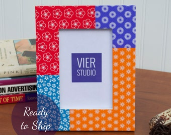 4 x 6 Picture Frame | Wood and Decorative Paper