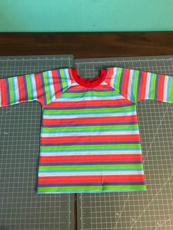 Chucky Good Guy Doll Striped Shirt Only Size Etsy - Good guy shirt