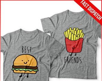 Best Friends T shirt Set -  FAST DISPATCH! Matching Set Matching Shirts Best Friend Gift BFF best Friend forever bff shirt 2 matching best