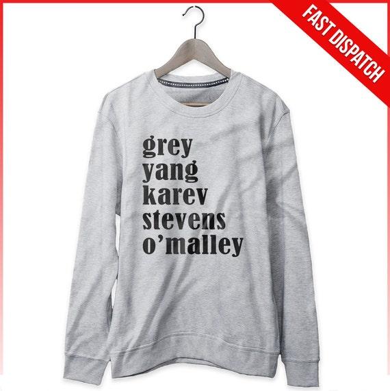 Anatomía sudadera gris Yang Stevens Karev o \' Malley   Etsy