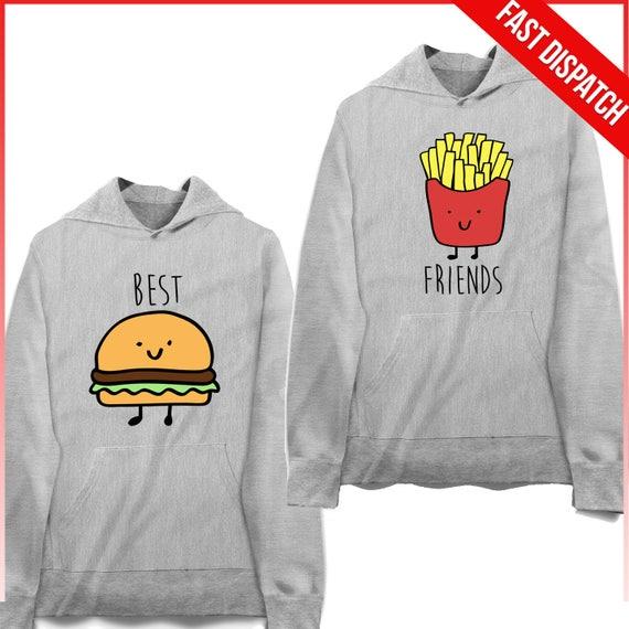 Best Friends Hoodies Best Friend Pullover Bff Sweatshirts Etsy