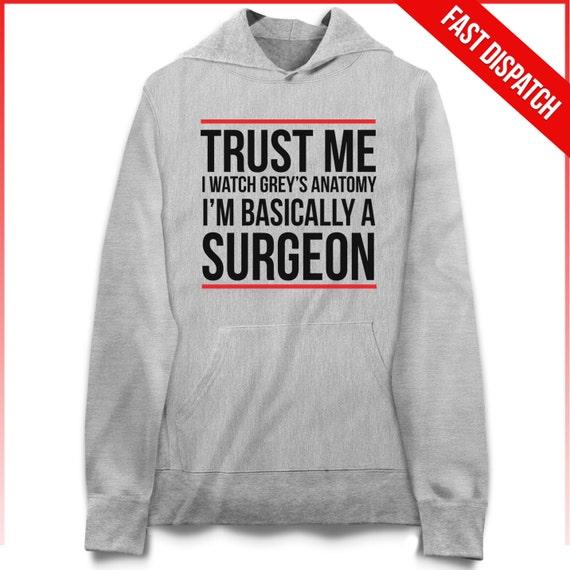 Me grises anatomía Hoodie confianza veo Greys Anatomy | Etsy