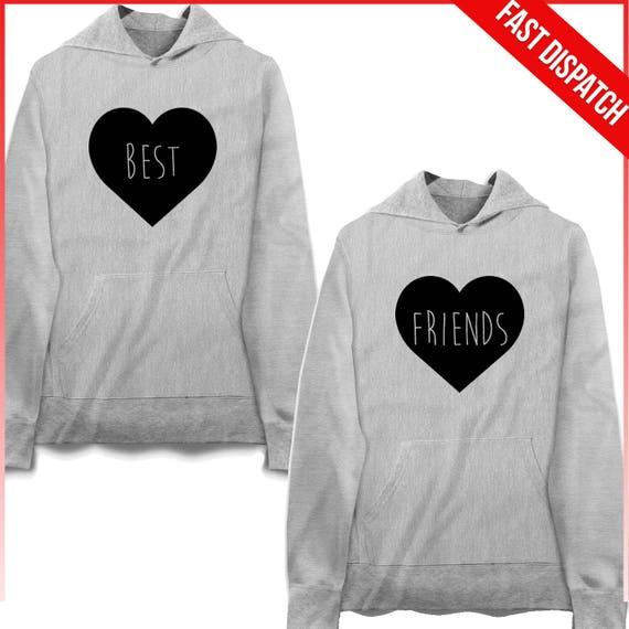 Best Friends Hoodies Best Friend Pullover Bff Sweaters Friends Etsy