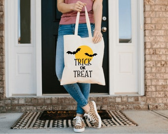 Trunk or Treat | Trick or Treat Bag | Halloween Canvas Tote | Halloween Treat Bag Bucket | Candy Crew Tote | Fall Festival Bag | BAG