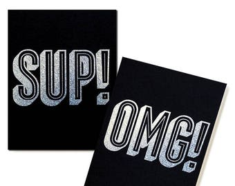 SUP! and OMG! Pocket Notebooks - Set of 2