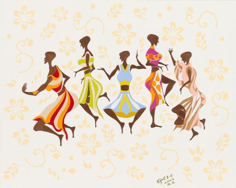 Cultural Art Wall Decor Print: Sisi Gorimampa Vol III African image 0
