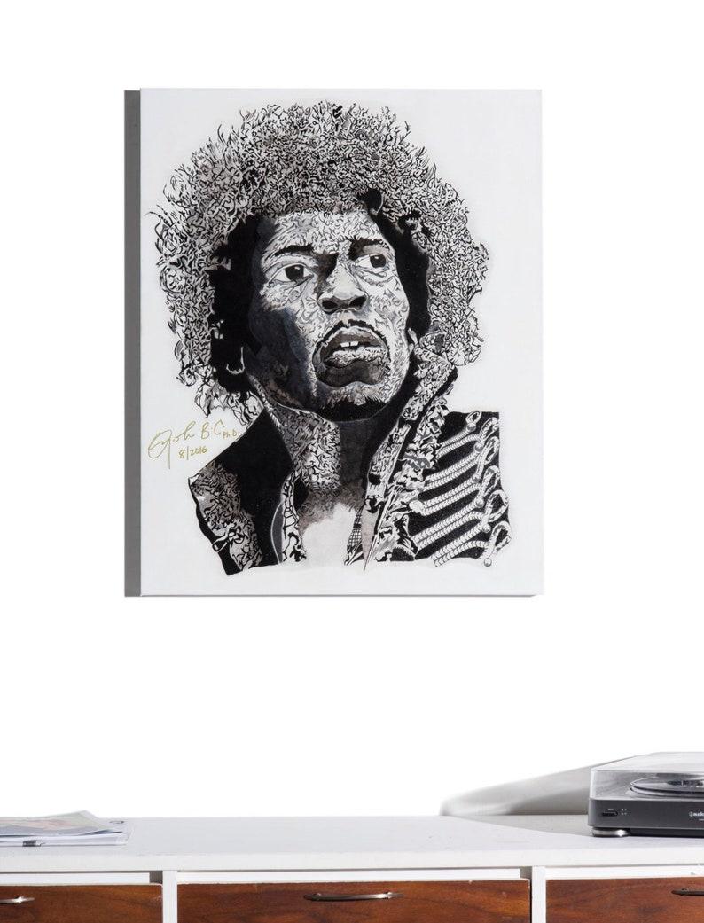 Voodoo Child  Print portrait of Jimi Hendrix Art image 0