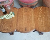3-Head Wine Barrel Coffee Table Living Room Dining Room Furniture Storage. LOCAL PICKUP ONLY.