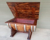 Wine Barrel Coffee Table Living Room Dining Room Furniture Storage. LOCAL PICKUP ONLY.