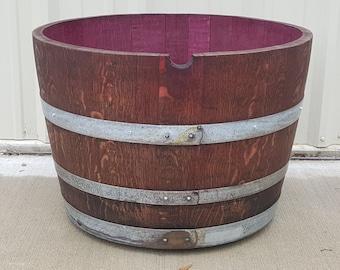Wine Barrel Planter 1/2 Barrel on Wheels. LOCAL PICKUP ONLY