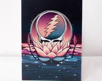 Grateful dead card etsy grateful dead lotus stealie greeting card m4hsunfo