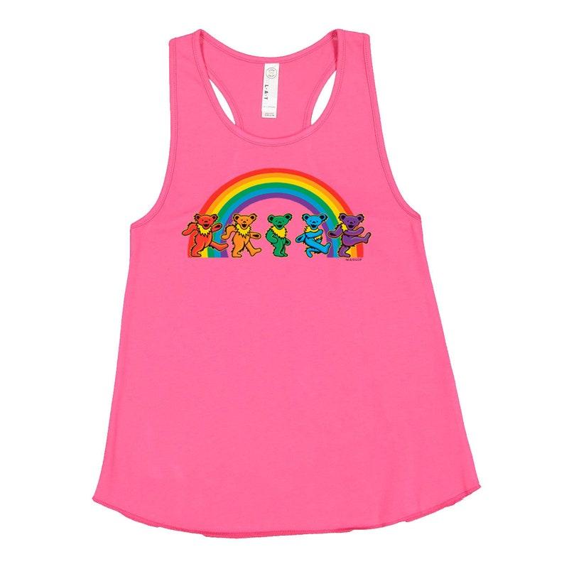 Grateful Dead Rainbow Bears Girls Tank Jerry Bears