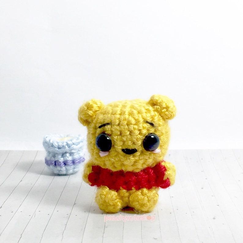 Amigurumi Bear Ourson Winnie L Ourson Ours Peluche Mignon Amigurumi Ours Au Crochet Kawaii Ours Ours Amigurumi Peluche Kawaii Accessoire