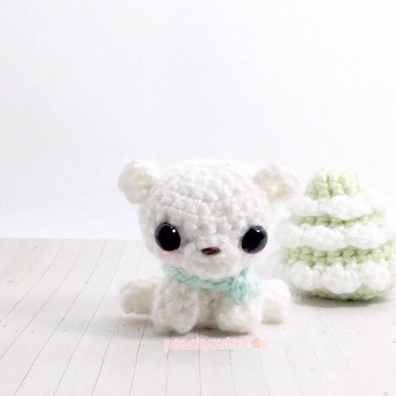 Miniature Teddy Bear Tiny Crochet Amigurumi Bear Kawaii | Etsy | 570x570