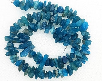 Organic Raw Beads Apatite Nuggets Chips For Jewelry DIY 34 Natural Sky Apatite Fine Gemstone Uncut Chips Beads Rough Gemstone Beads