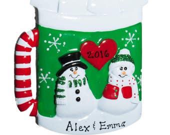 Personalized Ornament-Christmas Mug-Comes with Free Gift Bag