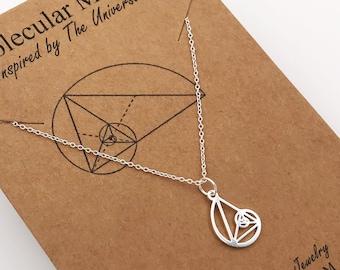 Fibonacci Necklace-Petite Golden Ratio Pendant-Golden Triangle-Teacher Gift-Science-Gift-Graduation Gift-Sacred Geometry-Christmas Gift