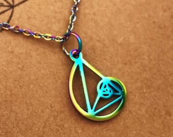 Fibonacci Necklace-Petite Golden Ratio Pendant-Golden Triangle-Teacher Gift-Science-Gift-Graduation Gift-Sacred Geometry-Math-Christmas Gift